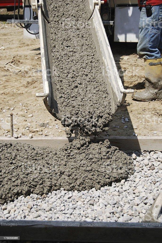 concrete chute royalty-free stock photo