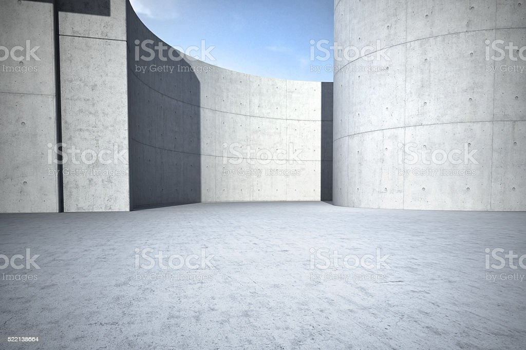 Concrete clean empty car background stock photo