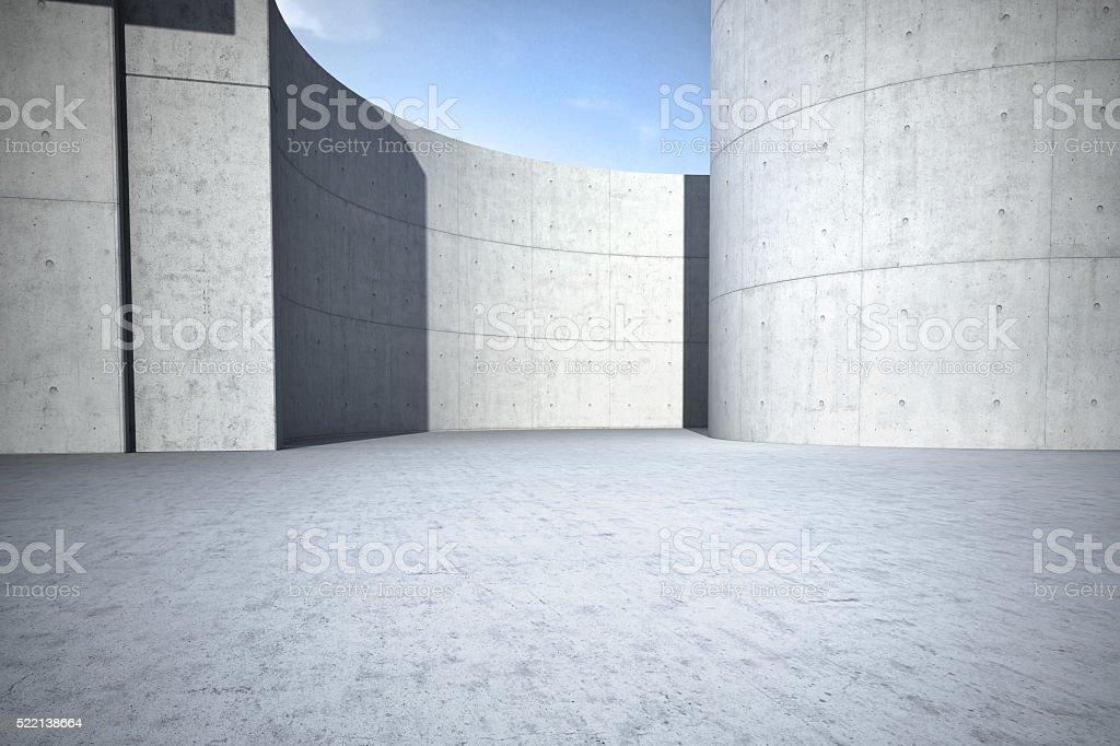 Concrete clean empty car background stock photo