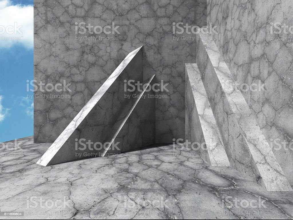 Concrete construction modern architecture background stock photo