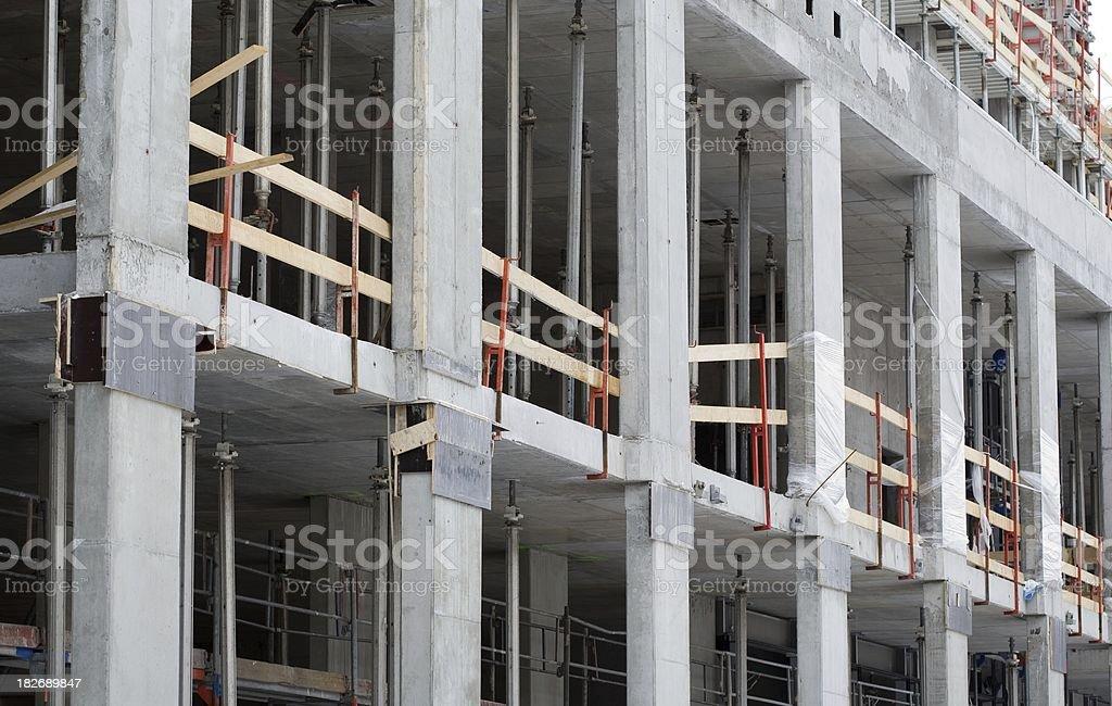 Concrete construction site stock photo
