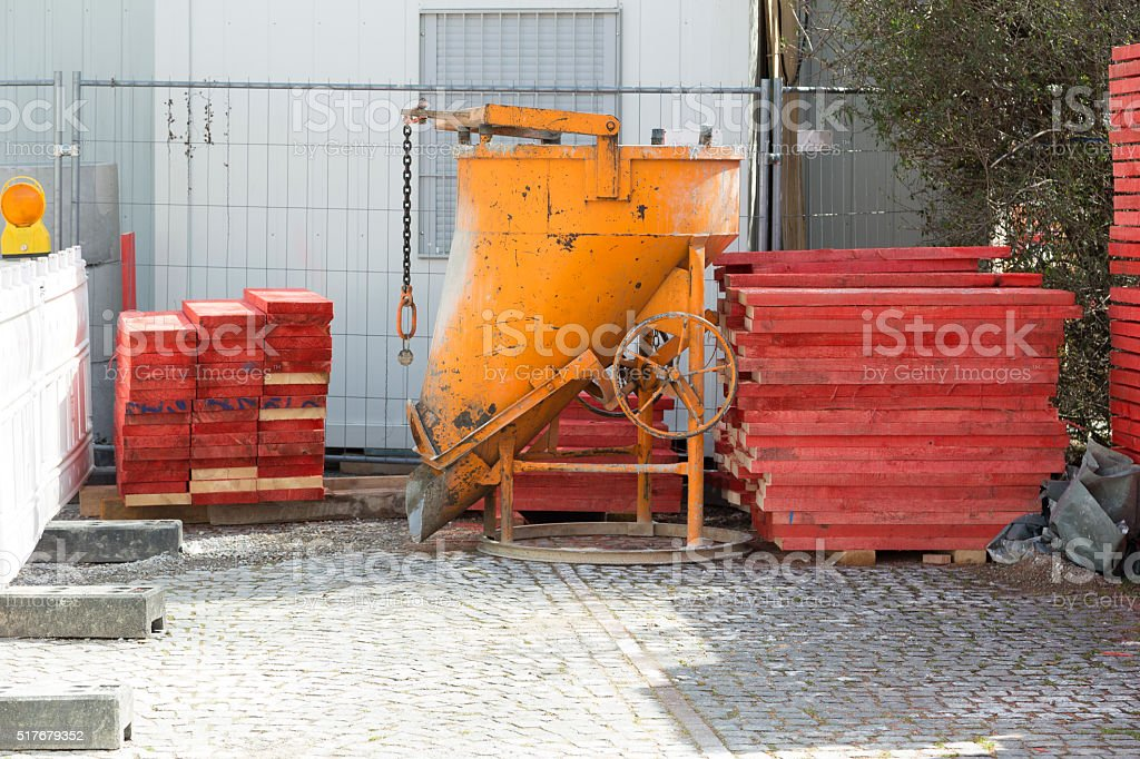 Concrete container stock photo