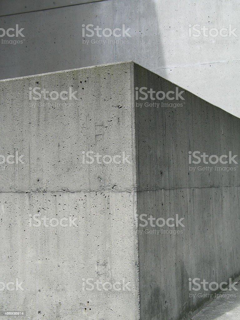 Concrete Corner stock photo