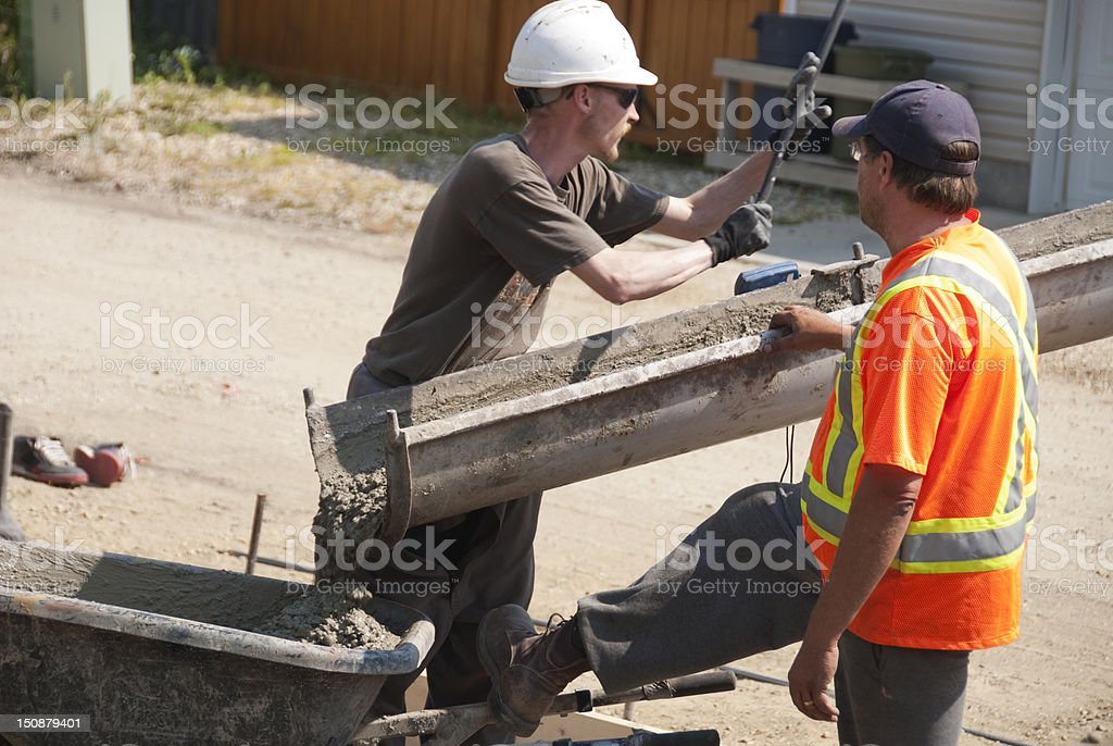 Concrete Crew royalty-free stock photo