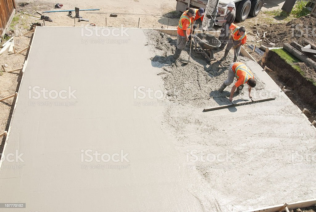 Concrete Crew stock photo