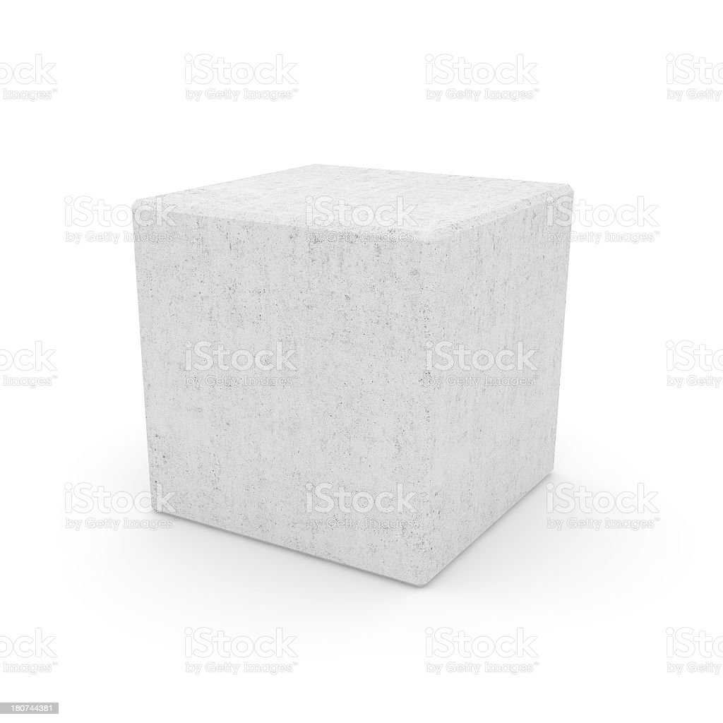 Concrete Cube stock photo