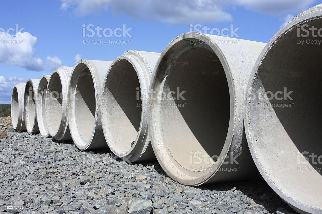 Concrete Culverts royalty-free stock photo
