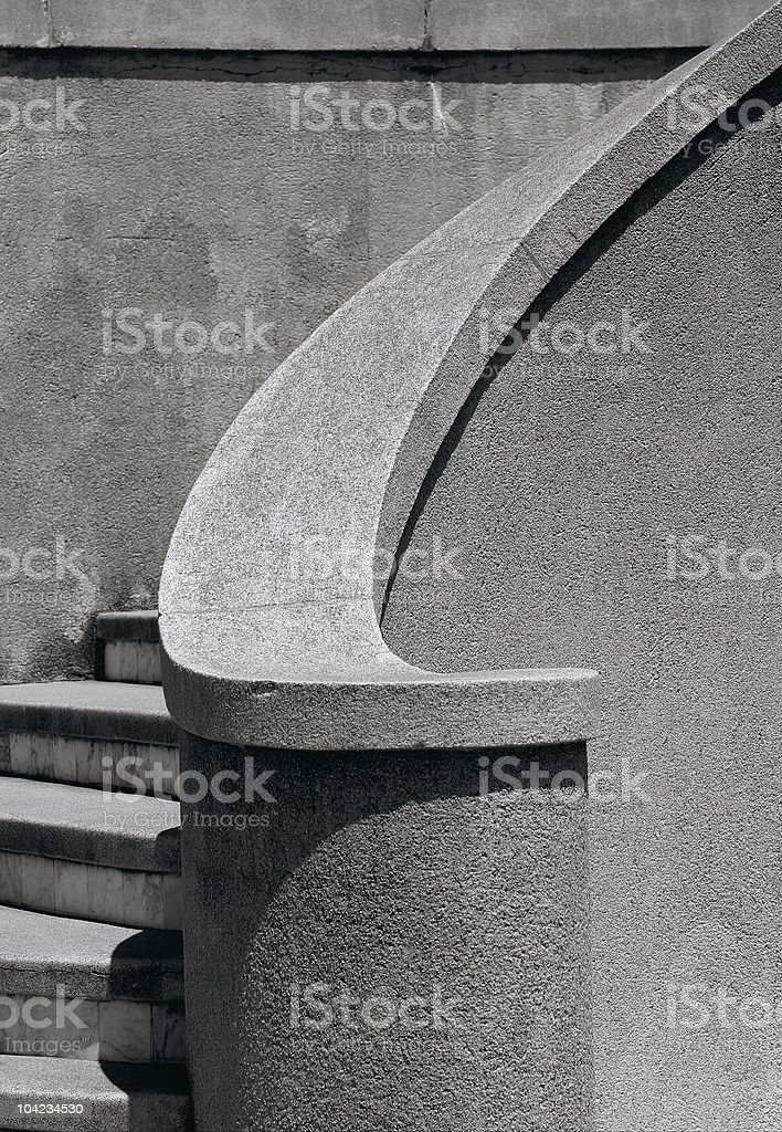 Concrete Curve royalty-free stock photo