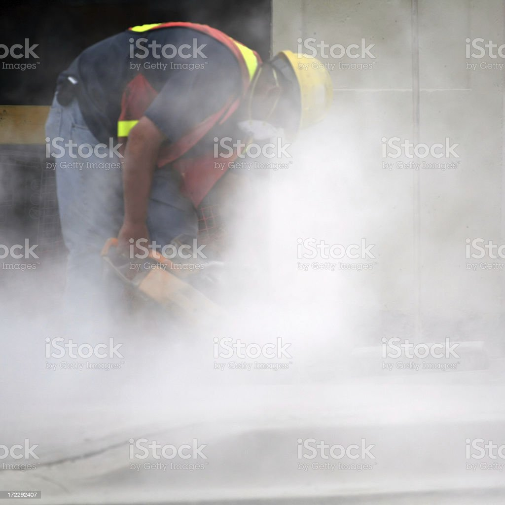 Concrete Cutter stock photo