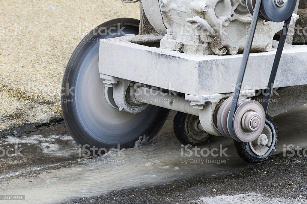 Concrete cutting machine stock photo