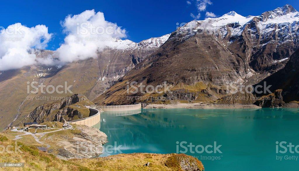 Concrete dam wall of Kaprun stock photo