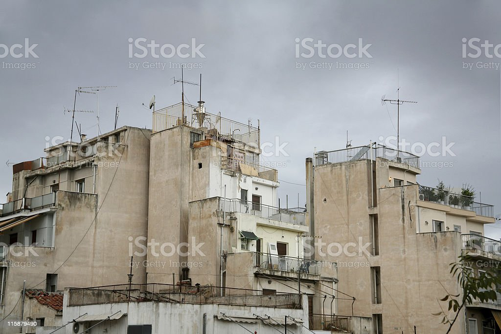 Concrete decay royalty-free stock photo