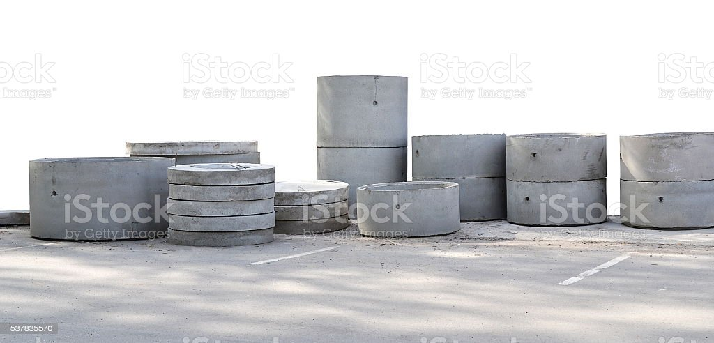 Concrete details of round shape stock photo