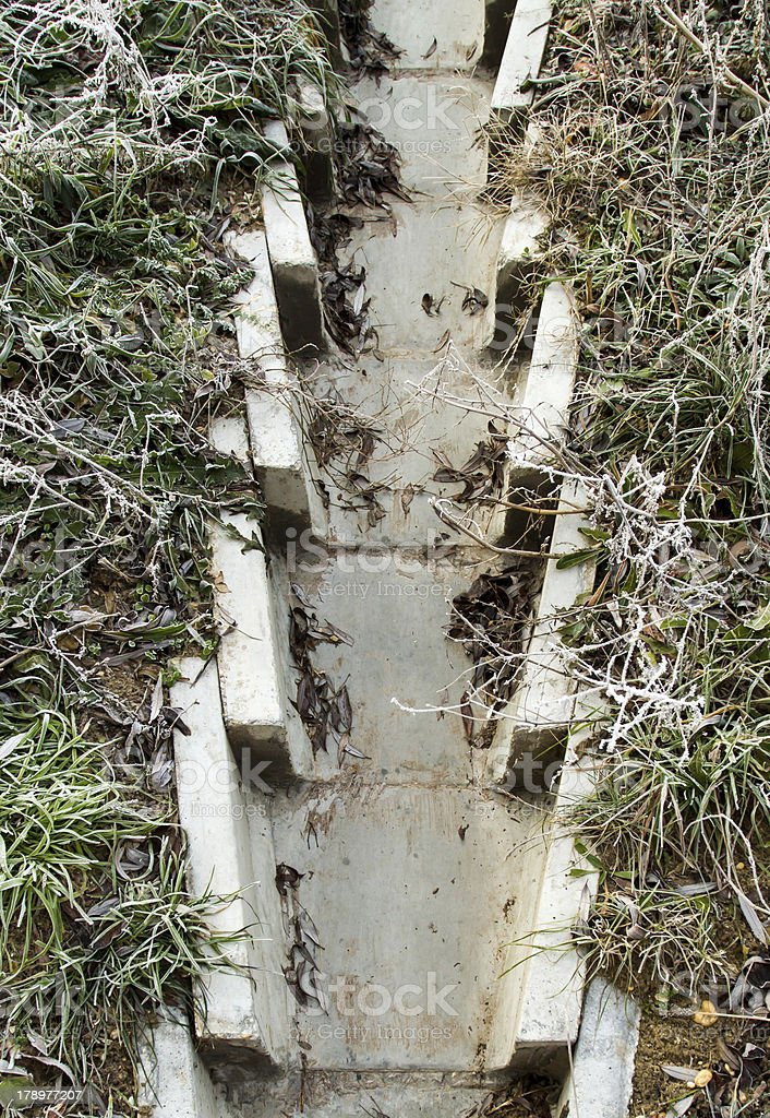 concrete drainage ditch royalty-free stock photo