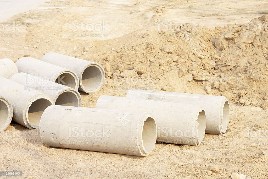Concrete Drainage Pipe royalty-free stock photo