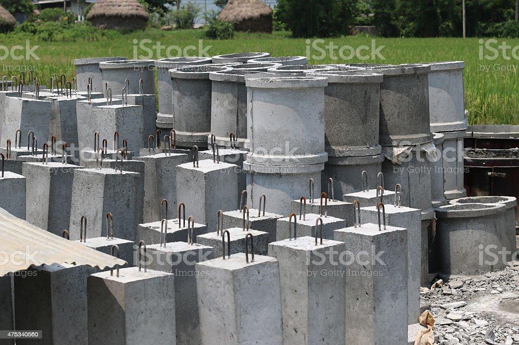 Concrete drainage pipe stock photo