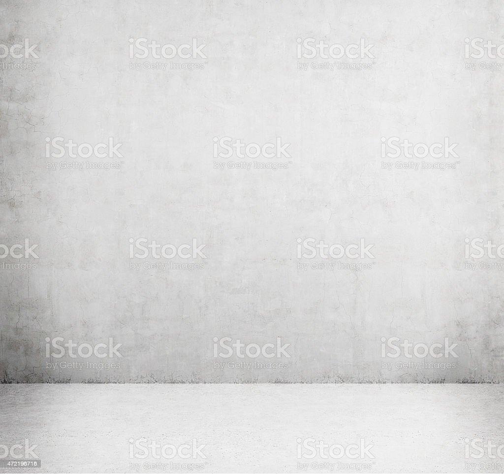 Concrete empty room stock photo