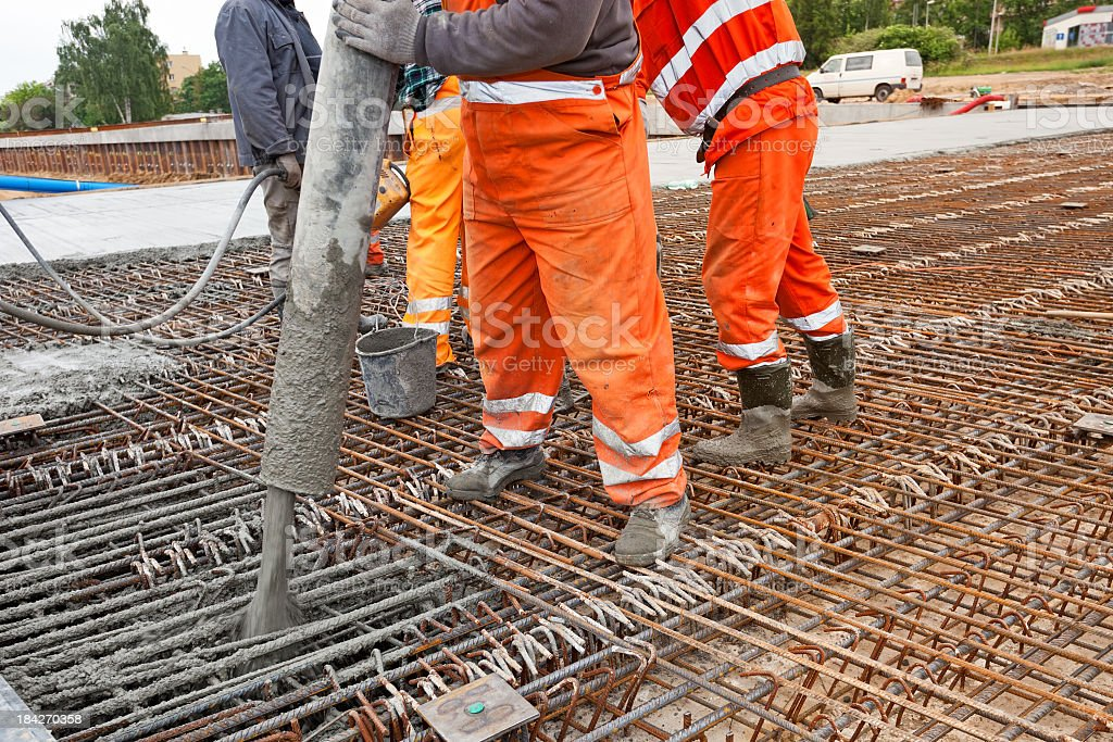 Concrete Engineering pouring royalty-free stock photo