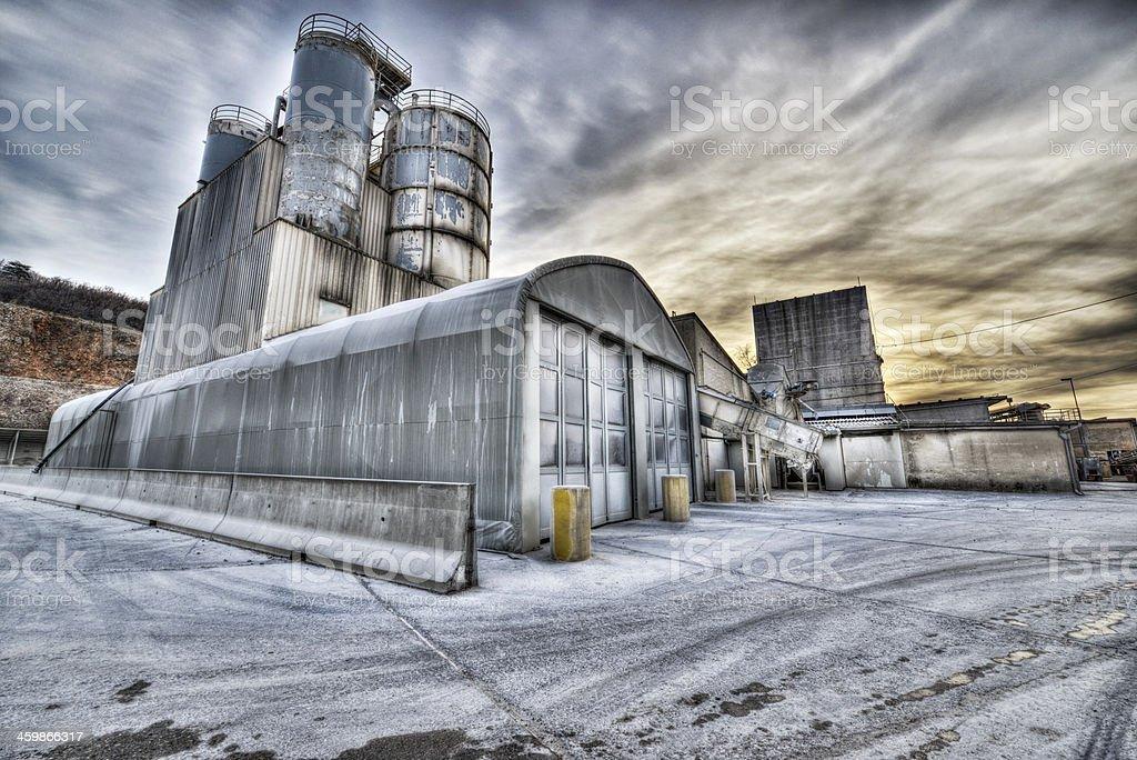 Concrete factory royalty-free stock photo