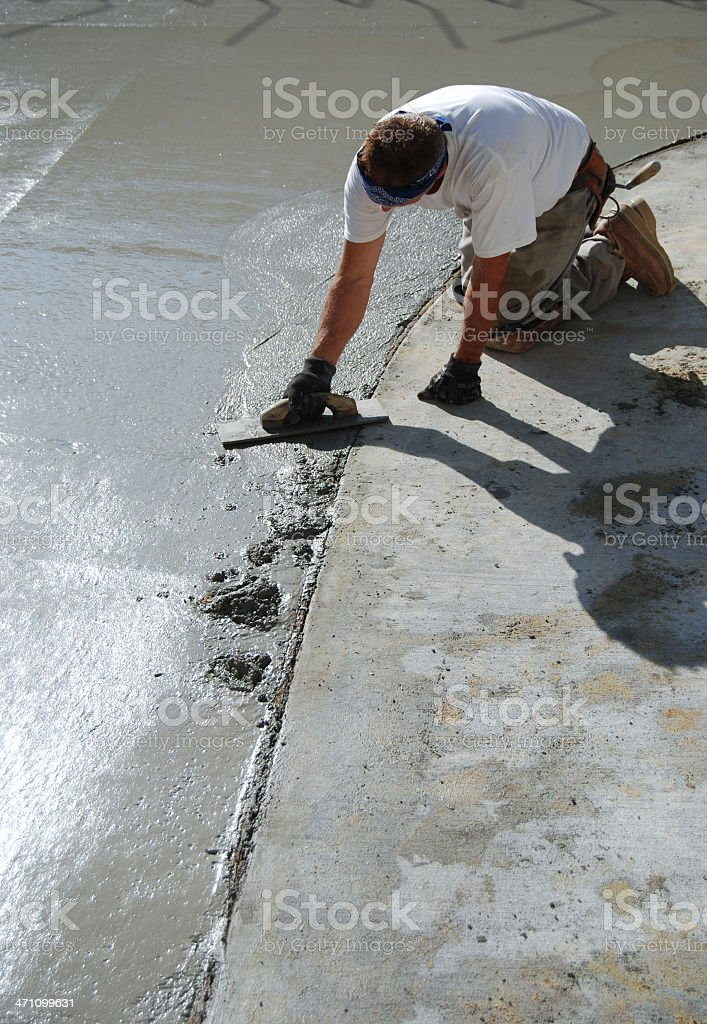Concrete finisher royalty-free stock photo