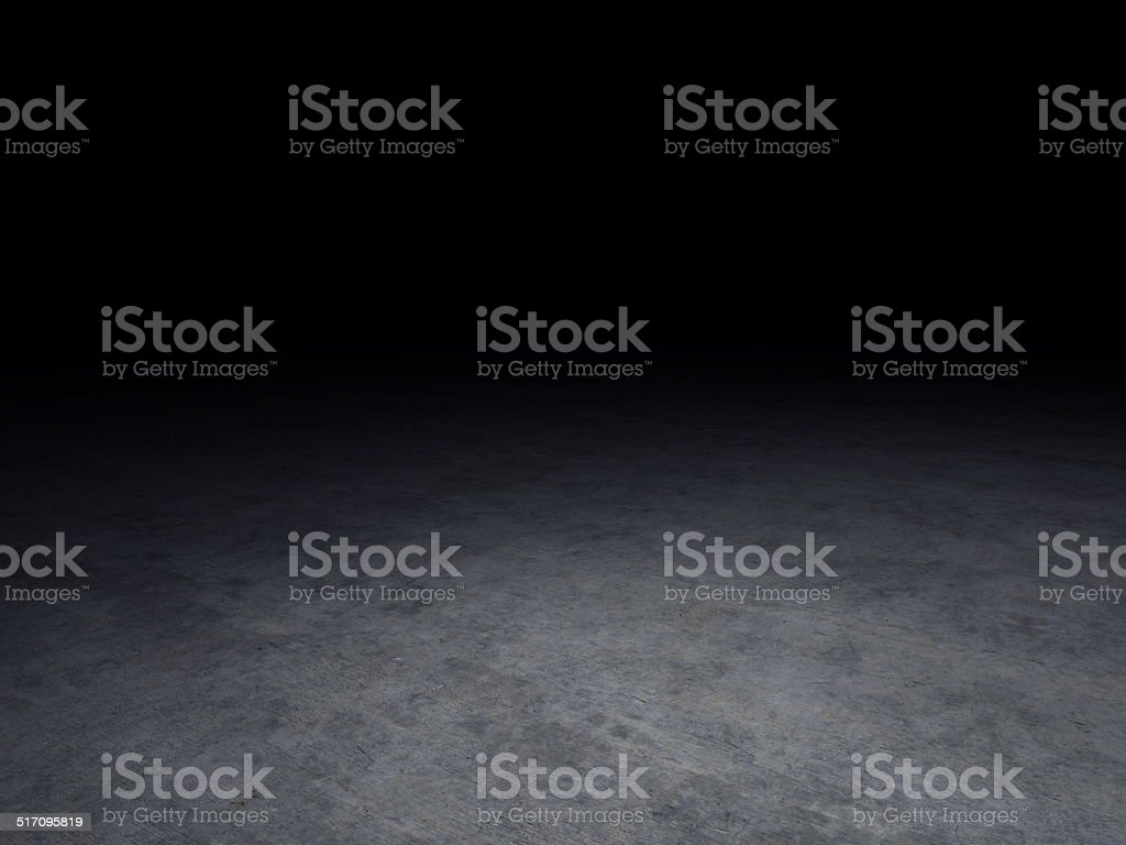 concrete floor with dark background stock photo