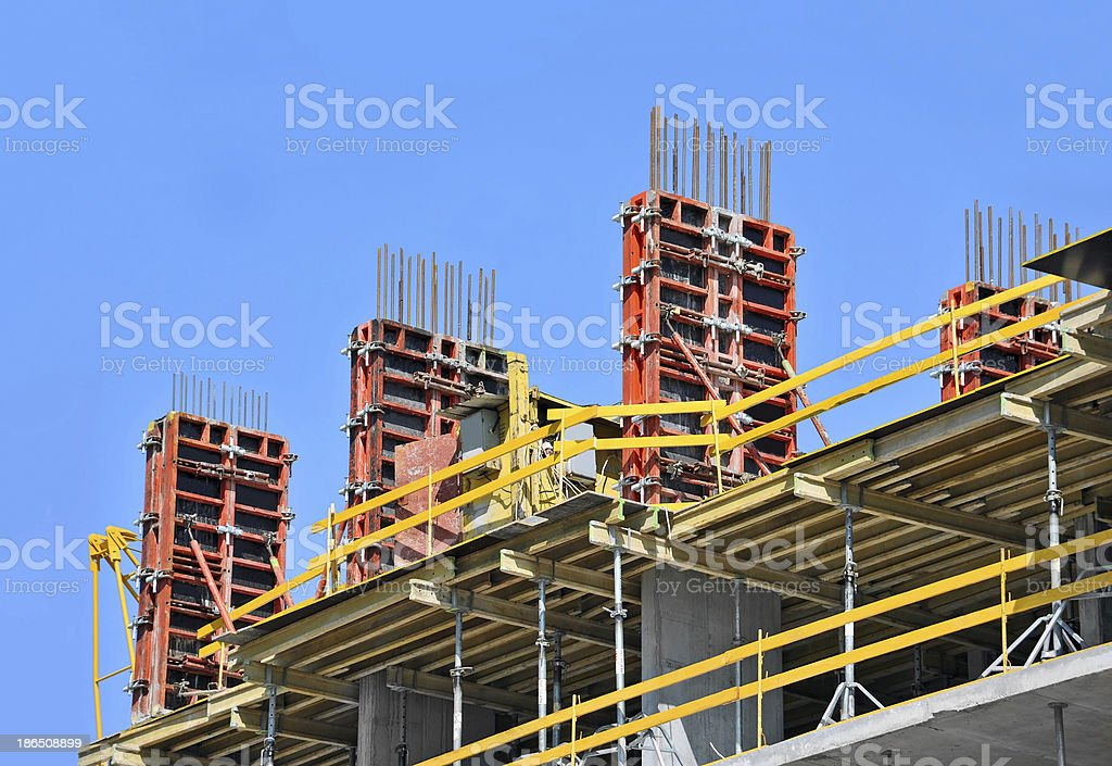 Concrete formwork and floor beams royalty-free stock photo