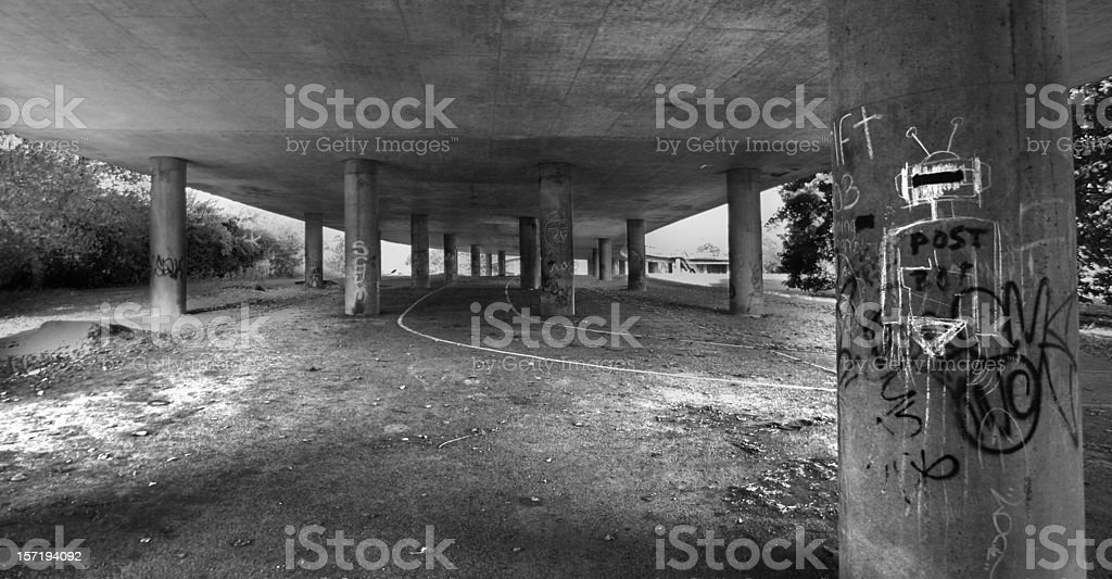 Concrete forrest royalty-free stock photo