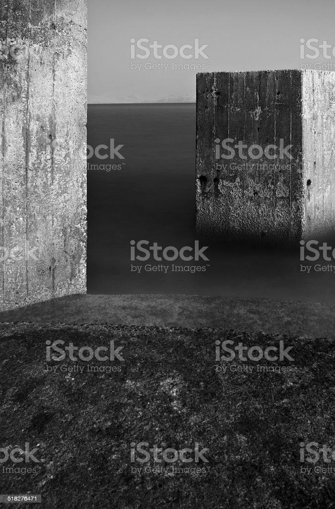 Concrete geometry stock photo