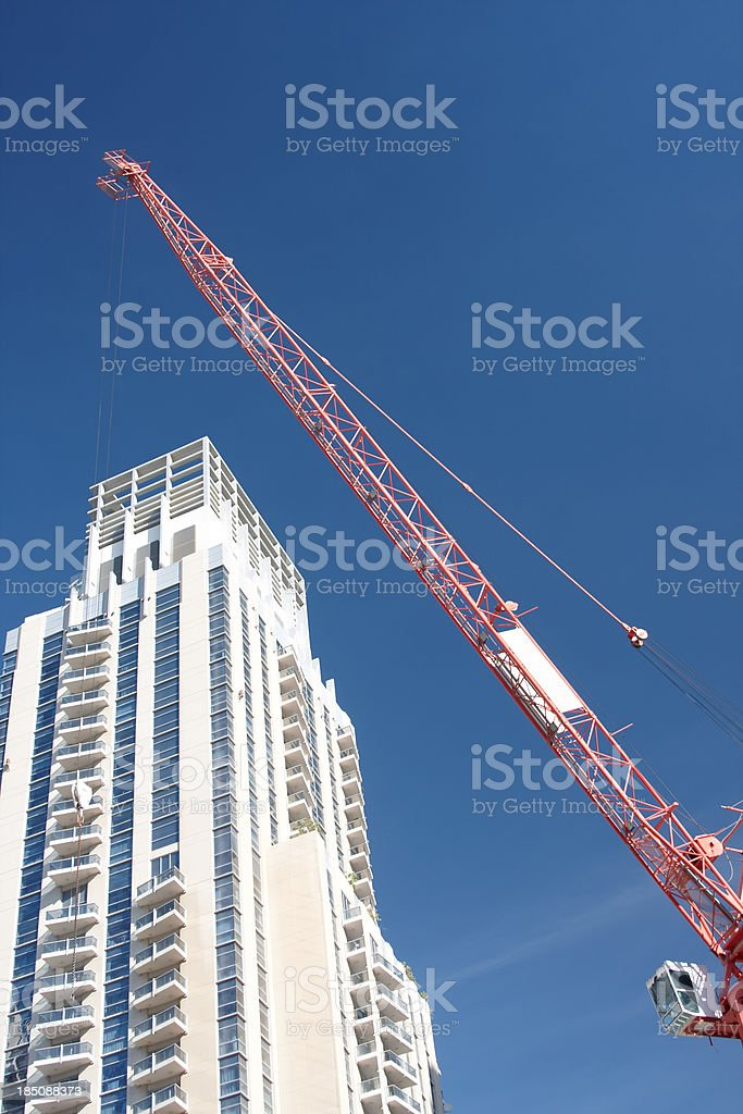 Concrete Highrise Construction Site royalty-free stock photo