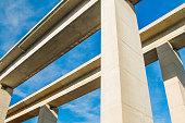 Concrete highway viaduct in Gorski kotar, Croatia
