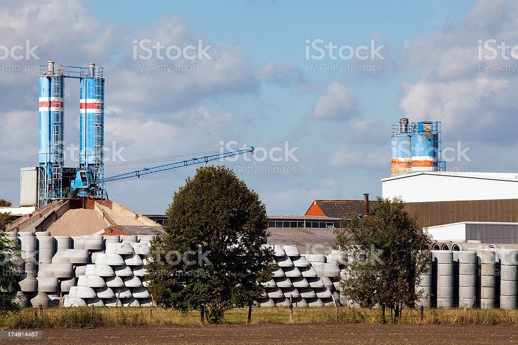 Concrete industry royalty-free stock photo