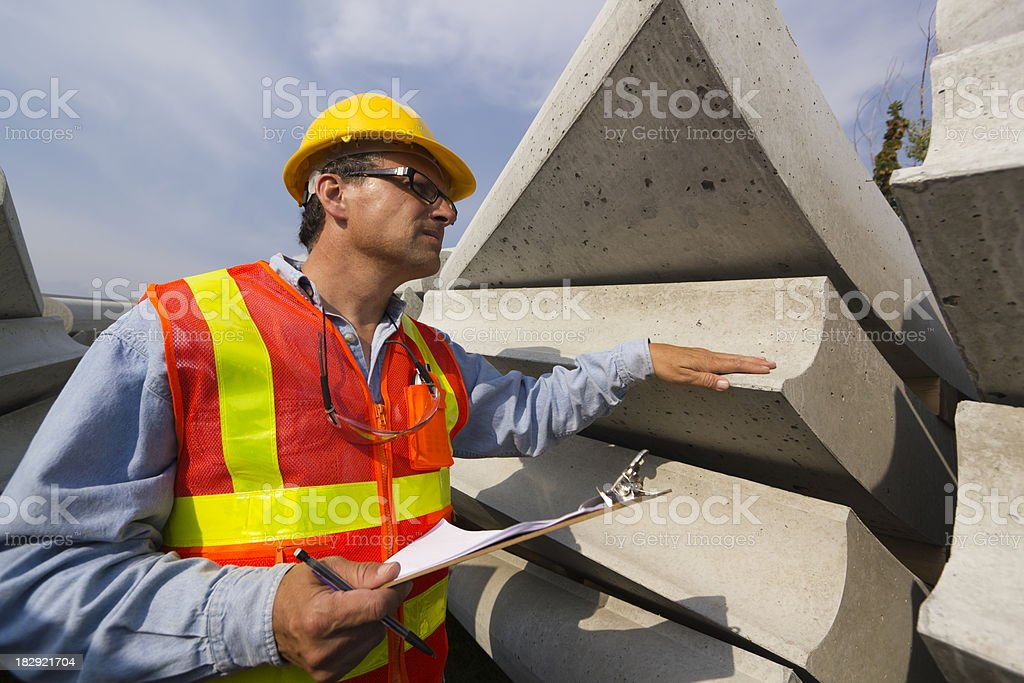 Concrete Inspection royalty-free stock photo