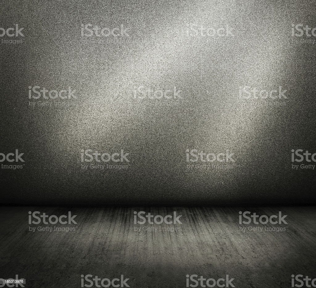 concrete interior wall and floor stock photo