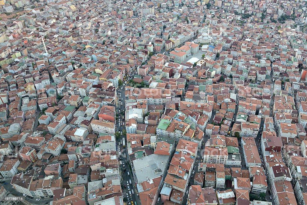Concrete jungle in Istanbul stock photo