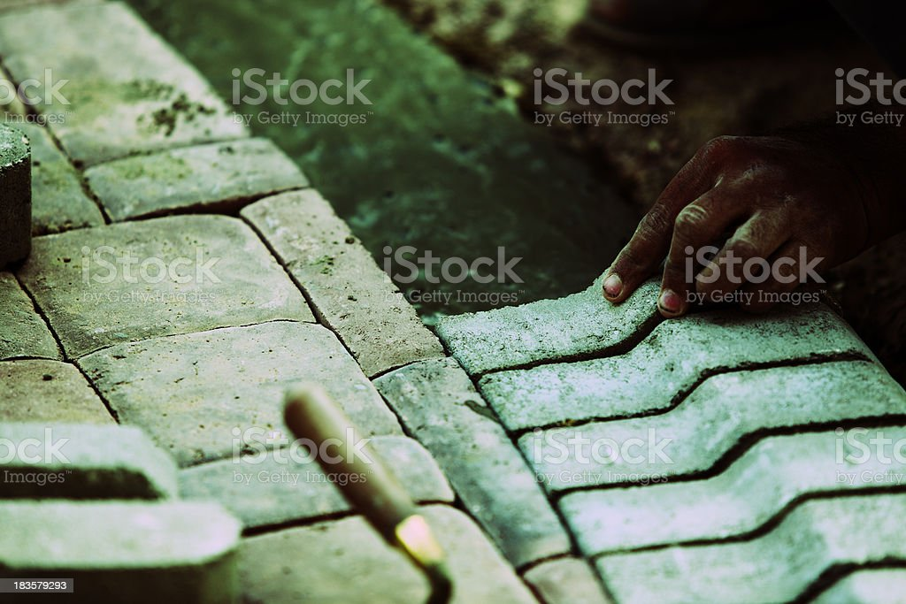 Concrete Kerb Stone Passage stock photo
