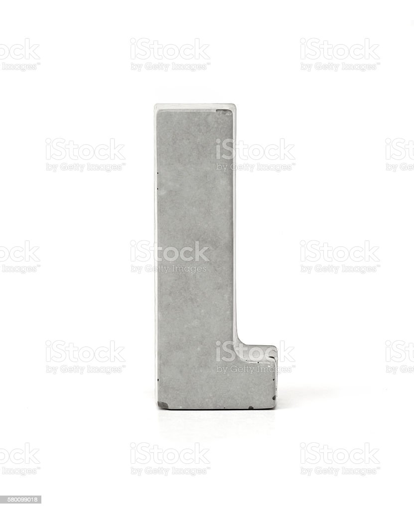 Concrete Letter L stock photo