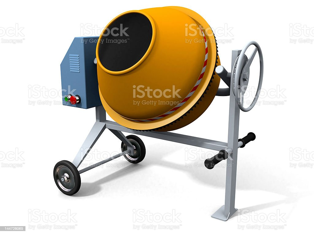 Concrete mixer royalty-free stock photo