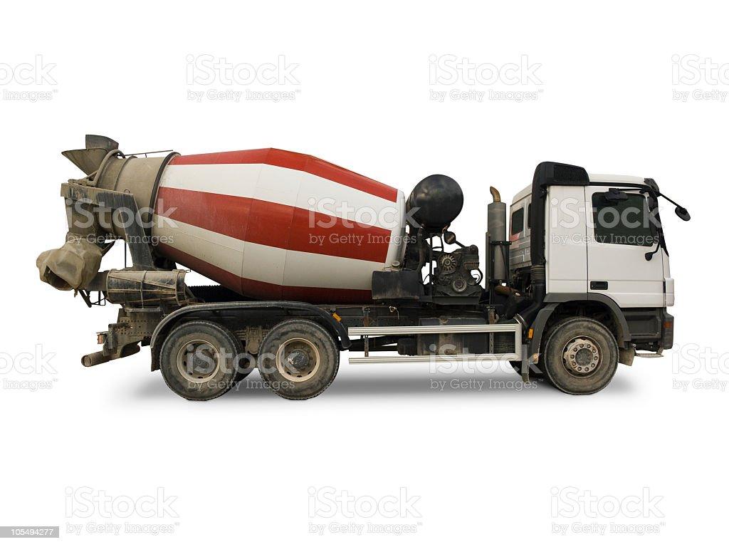 Concrete mixer truck royalty-free stock photo
