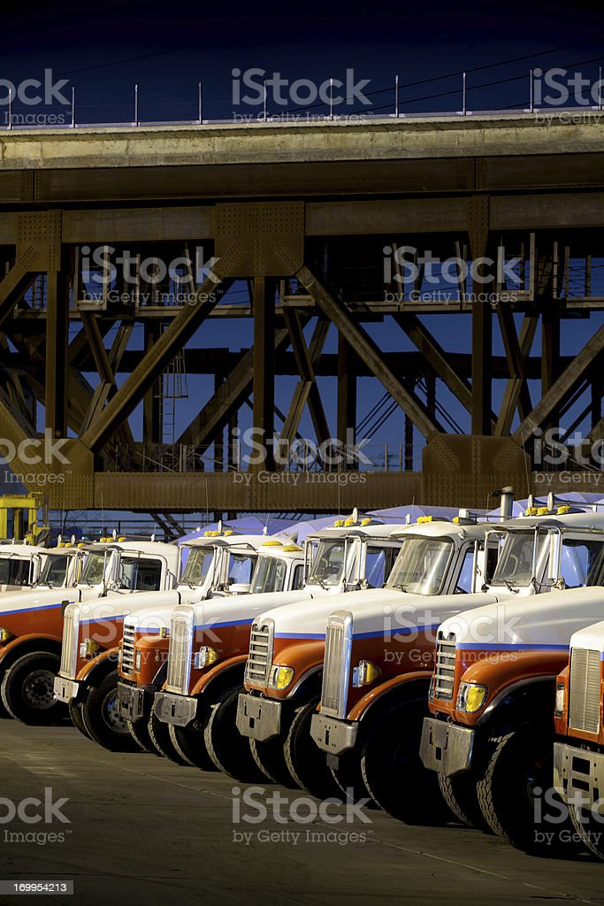 Concrete Mixer Trucks royalty-free stock photo