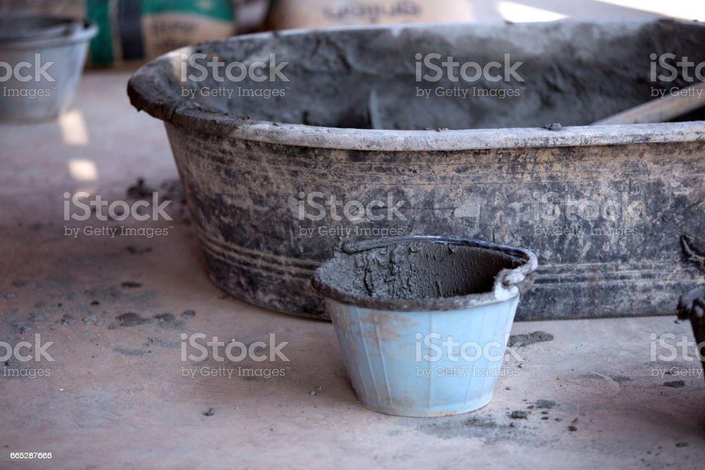 Concrete mixing equipment stock photo