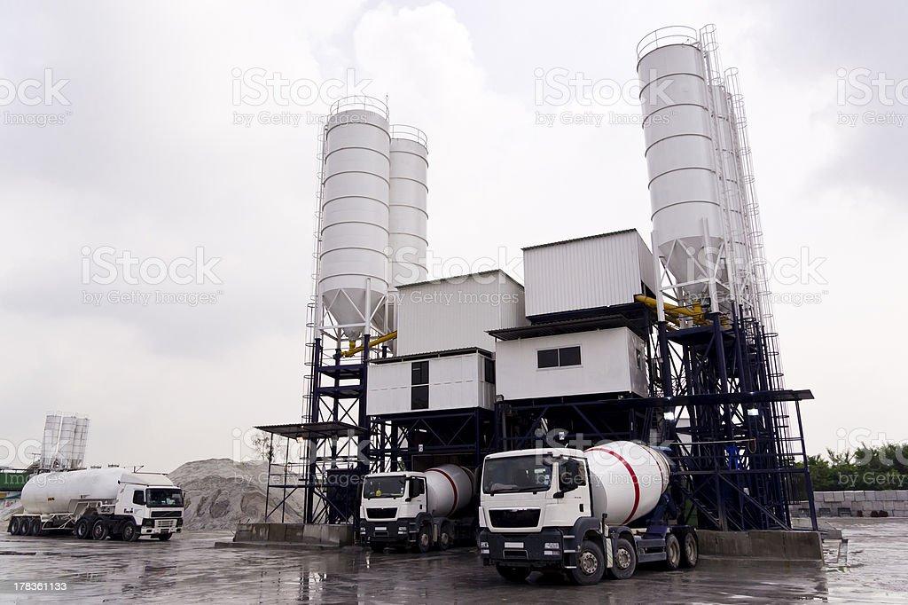 Concrete Mixing Factory stock photo