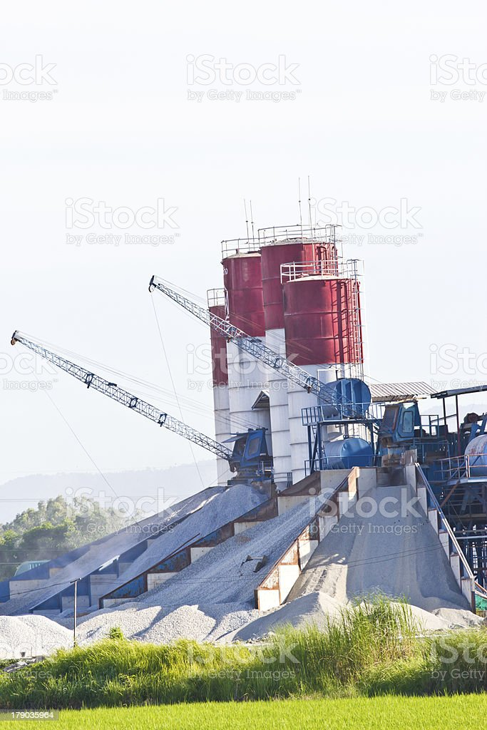 Concrete mixing plants royalty-free stock photo