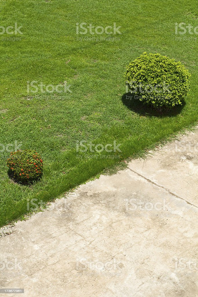 concrete pavement in a field royalty-free stock photo