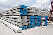 concrete pile stock
