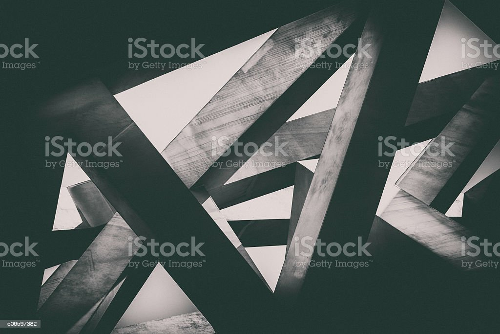 Concrete pillars royalty-free stock photo