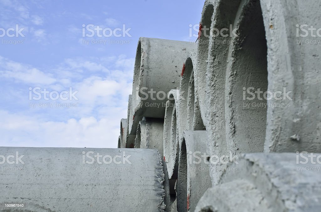 concrete pipe and blue sky royalty-free stock photo