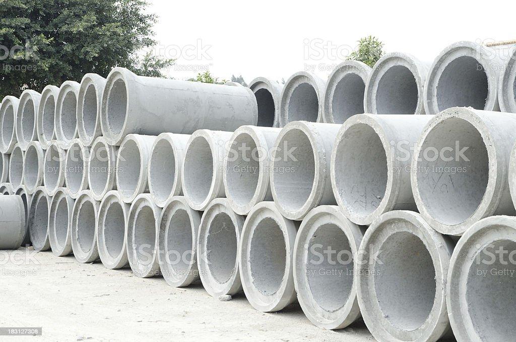 concrete pipe royalty-free stock photo