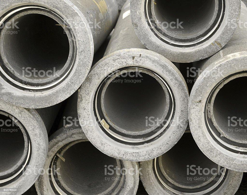 Concrete pipes royalty-free stock photo