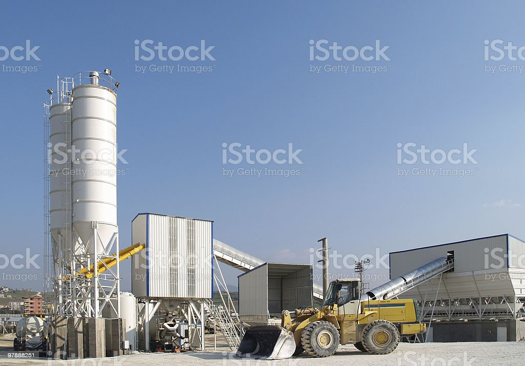 concrete plant royalty-free stock photo