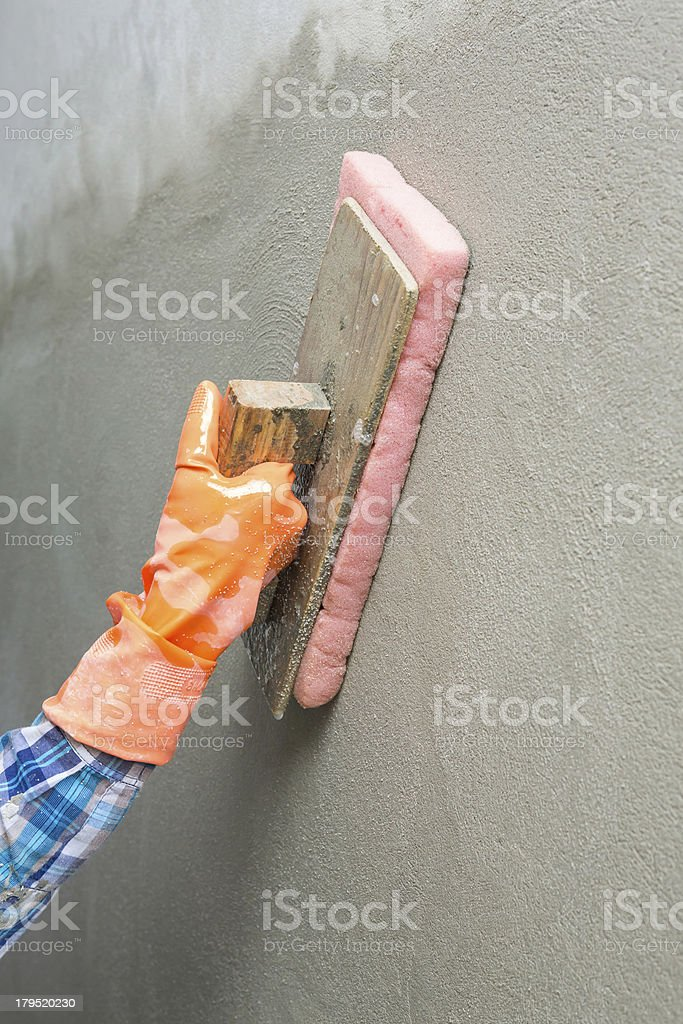 Concrete plaster cleaning royalty-free stock photo